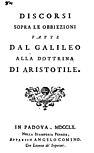 Bressani - Discorsi sopra le obbiezioni fatte dal Galileo alla dottrina di Aristotile, 1760 - 1231591.jpg