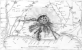 Breve cenno della eruzione vesuviana del maggio 1855 mappa.png