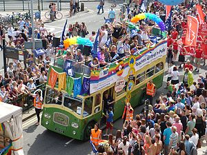 Brighton Pride 2014 bus (15045503485)