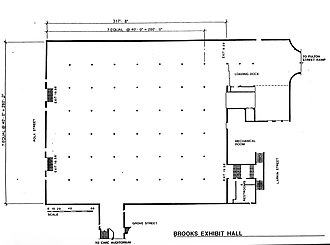 Brooks Hall - Site plan of Brooks Hall, San Francisco (published in 2000)