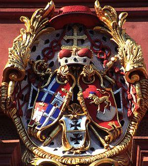 Schloss Bruchsal - Arms of Cardinal Damian Hugo Philipp von Schönborn at Schloss Bruchsal