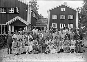 Eva von Bahr (physicist) - A class at Brunnsviks folkhögskola sometime in the 1930