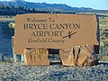 Bryce Canyon Airport sign, Oct 17.jpg