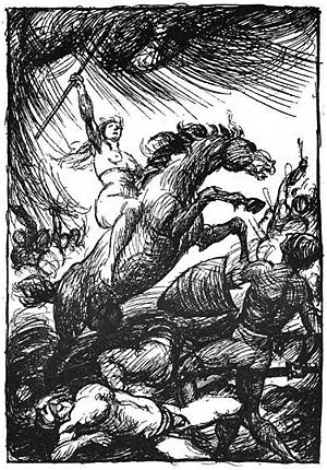 Brynhildr - A depiction of Brynhildr (1919) by Robert Engels.