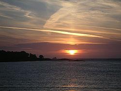 Sonnenuntergang bei Pleumeur-Bodou