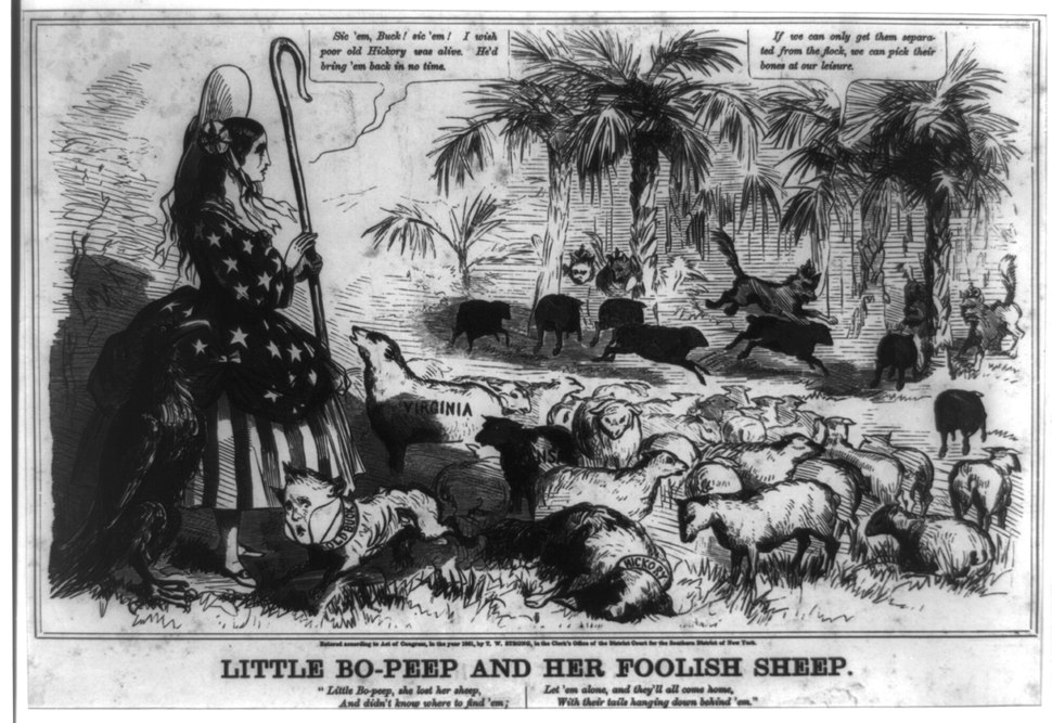 Buchanan as Dog Buck 1861