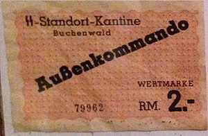 Buchenwald concentration camp - Buchenwald-camp-money
