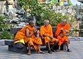 Buddist monks, Hua Hin rly stn. (8289441264).jpg