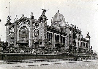 Exposición Internacional del Centenario - Image: Buenos Aires Pabellón Argentino de la Exposición Universal de París en Plaza San Martín
