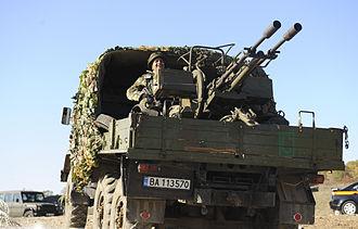 ZU-23-2 - Bulgarian truck-mounted ZU-23-2.