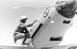 Jagdgeschwader 27 - New paint for a Messerschmitt Bf 109 E-4 of Jagdgeschwader 27