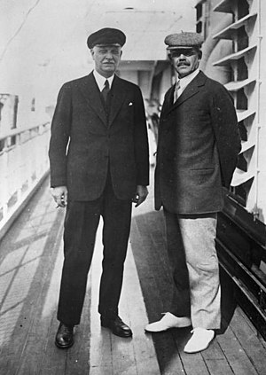Carl Friedrich von Siemens - Carl Friedrich von Siemens (right) with Wilhelm Cuno, director of the Hapag shipping company and former Chancellor of Germany, on their way to New York in 1931