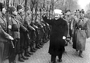 Karl-Gustav Sauberzweig - November 1943: The Mufti of Jerusalem inspects Bosnian volunteers. SS-Brigadeführer und Generalmajor der Waffen-SS Karl-Gustav Sauberzweig on right.