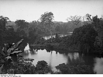 Wouri estuary - Dibamba river, which flows into the estuary (1903)