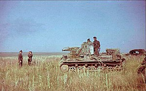 Panzerjäger I - 1941 colour photograph of a Panzerjäger I in western Ukraine