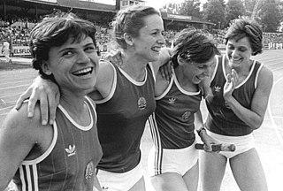 Gesine Walther retired East German sprinter, born 1962