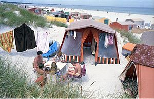 Prerow - Camping on the beach at Prerow in 1990