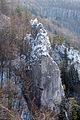 Burg Hahnenkamm, Ansicht von der unteren Burg Hexenturm.JPG