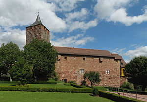 Rothenfels - Rothenfels Castle, with bunter bergfried and wall