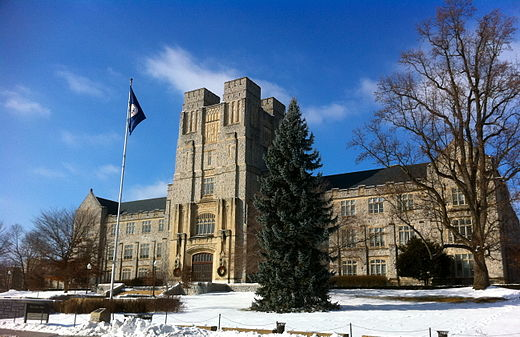 Burruss Hall houses the Office of the Vice President for Research and Innovation. Burruss Hall, Virginia Tech.JPG