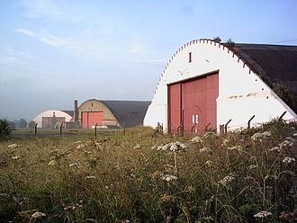 RAF Burtonwood - Storage bunkers at the former Burtonwood Airfield