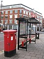 Bus shelter in Goswell Road, EC1 - geograph.org.uk - 1069820.jpg