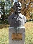 Bust of László Almásy by Béla Domonkos. - Érd.JPG