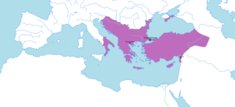 Byzantine Empire under the Macedonian dynasty - The Byzantine Empire at the death of Basil II, 1025