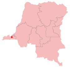 Location of Kisantu in the Democratic Republic of the Congo