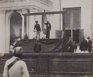 Jakarta History Museum - Executions took place in the Stadhuisplein in front of the city hall building (ca. 1900)