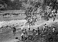 COLLECTIE TROPENMUSEUM Vrouwen wassen de vaat langs de oever van de rivier Ciliwung bij Buitenzorg TMnr 60027040.jpg