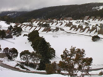 Kosciuszko National Park - Cabramurra, Australia's highest town, was built during construction of the Snowy Mountains Scheme.