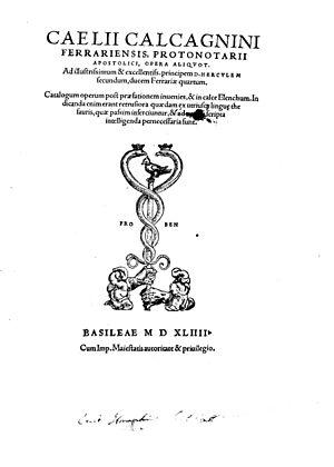 Celio Calcagnini - Opere, 1544