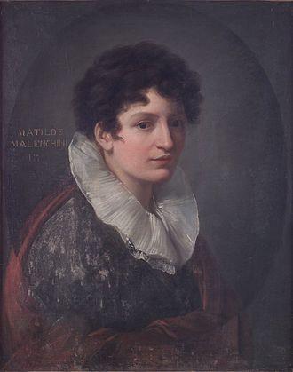 Matilde Malenchini - Matilde Malenchini; portrait by Vincenzo Camuccini (c.1815)