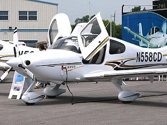 Canadian Aviation Expo - A Cirrus SR22 on display at the Expo in 2004