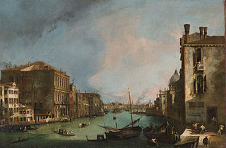 Le Grand Canal avec le pont du Rialto