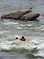 Canoeist on James River - Richmond - Virginia - USA (47792555021).jpg