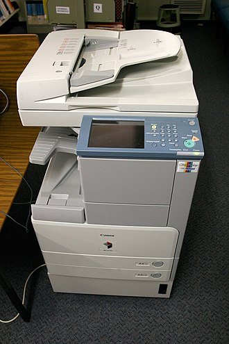 Multi-function printer - A Canon IR2270.  An example of a mid-range Office MFP.
