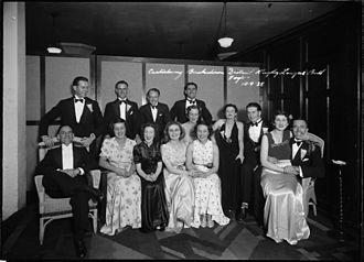 Canterbury-Bankstown Bulldogs - The third annual Club Ball, 1938, from the Tom Lennon collection, courtesy of the Powerhouse Museum