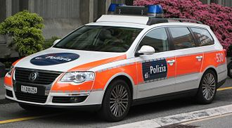 Police car - Patrol car in Ticino, Switzerland