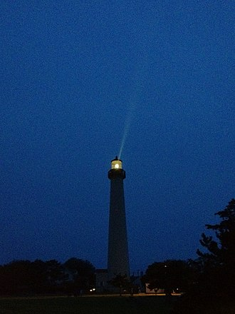 Cape May Lighthouse - Image: Cape May Lighthouse (Early Evening) in Cape May, New Jersey, USA