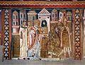 Cappella di san silvestro, affreschi del 1246, storie di costantino 04 silvetsro fa venerare a costantino i ss. pietro e paolo 1.jpg
