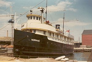 Captain John's Harbour Boat Restaurant - The MS Normac, first home of Captain John's Harbour Boat Restaurant, in Toronto Harbour