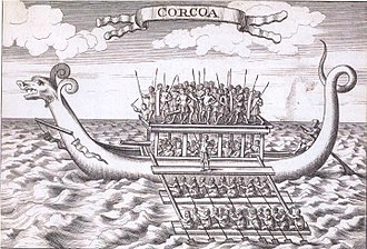 Karakoa - 18th-century engraving of a karakoa from The Discovery and Conquest of the Molucco and Philippine Islands (1711) by Bartolomé Leonardo de Argensola, translated into English by John Stevens