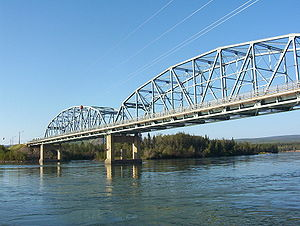 Yukon River - The bridge across the Yukon River at Carmacks on the Klondike Highway