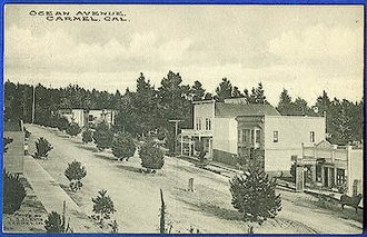 Carmel-by-the-Sea, California - Ocean Ave, c. 1908.