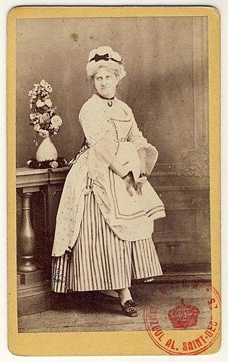 Matei Millo - Image: Carol Popp de Szathmáry Matei Millo în costumaţie de teatru, costum feminin din piesa Fiica poporului