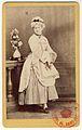 Carol Popp de Szathmáry - Matei Millo în costumaţie de teatru, costum feminin din piesa Fiica poporului.jpg