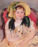 Cassatt Mary Sara with her dog in an Armchair 1901.jpg