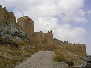 El Castillo de Gormaz visto desde el camino de acceso